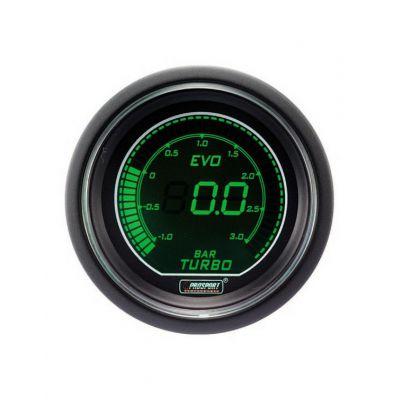 Manomètre Digital Pro-Sport Pression Turbo 52mm -1 à 3B Vert/Blanc