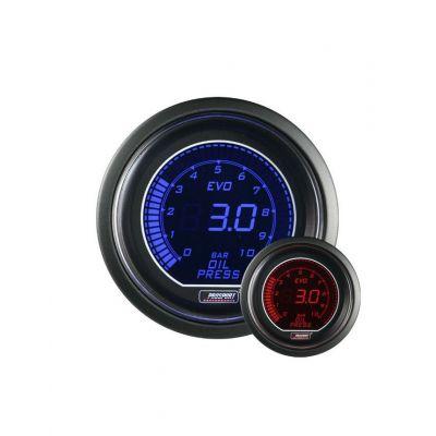 Manomètre Prosport Pression Huile Digital Diamètre 52mm 0 à 7 Bars + Sonde