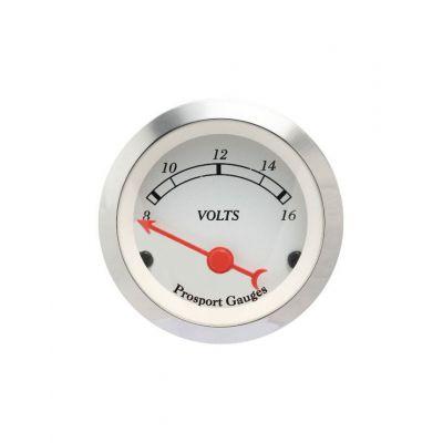 Manomètre Classic Voltmètre Prosport 52mm 8-16Volts